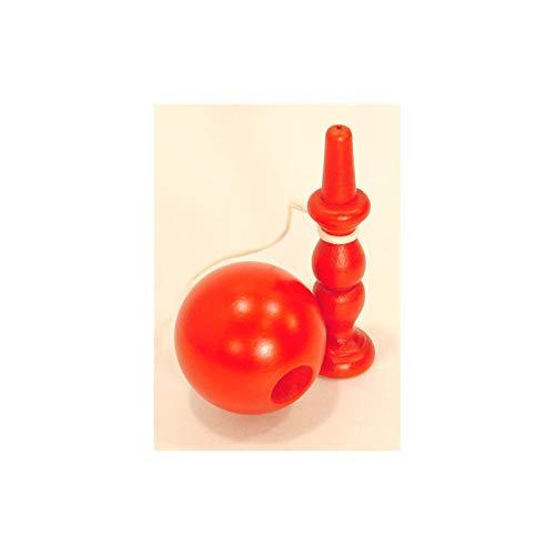 Superbe Bilboquet de 18 cm Rouge, Fabrication Française Artisanale irréprochable - Livraison Gratuite