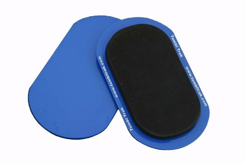 Tumbl Trak Smooth Sliding Sliders with Comfortable Top, Pair (For Carpet Floors) Blue(Small -Pair), 9 in