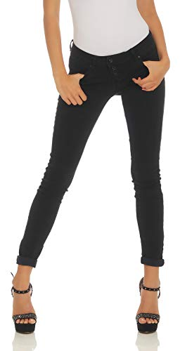 Buena Vista Damen Jeans Malibu Stretch Hose Knopfleiste Denim Pants Trousers Black S