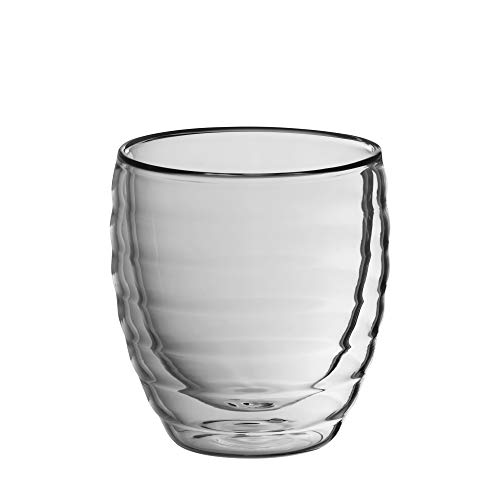 Kela Cappuccinoglas, Cesena, 2-tlg, Doppelwandiges Glas, 200 ml, 12411, Transparent