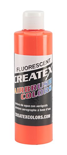 Createx colors paint for Airbrush, 8 oz, fluorescent orange by createx colors