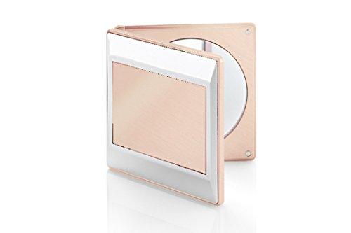 Miroir de sac carré grossissant x5 rose gold Novex