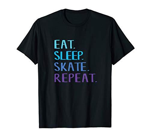 Eat Sleep Skate Repeat T-Shirt - Ice or Roller Skating Tee