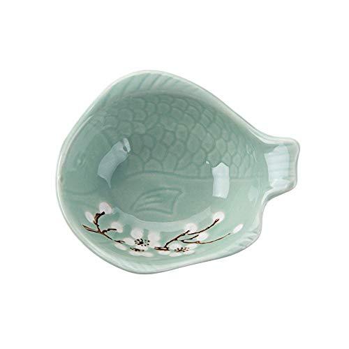 ERXCA Bowls Ceramic Wasabi Sushi Soja Saus Schotel Kleine Bowl Azijn Pickles Saus Schaal Thuis Party Servies Groen