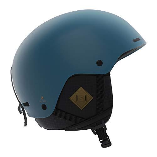 Salomon, Casco da Sci e da Snowboard per Uomo, Calotta in ABS, Tecnologia SMART, Taglia L, 59-62 cm, Brigade+, Blu (Moroccan Blue), L40536900