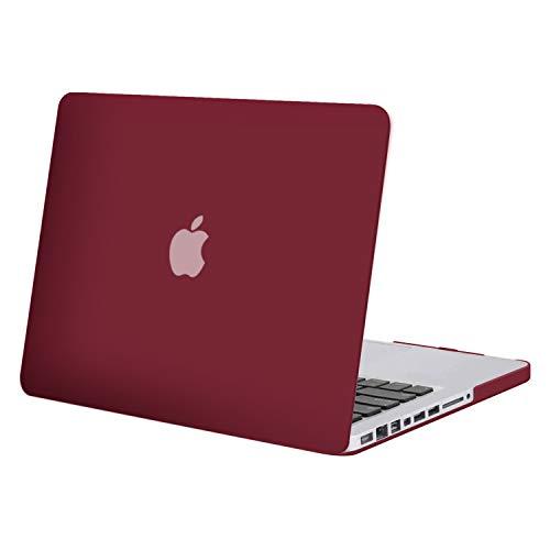 MOSISO Funda Dura Compatible con MacBook Pro 13 Pulgadas con CD-ROM A1278 (Versión 2012/2011/2010/2009/2008), Ultra Delgado Carcasa Rígida Protector de Plástico Cubierta, Vino Rojo