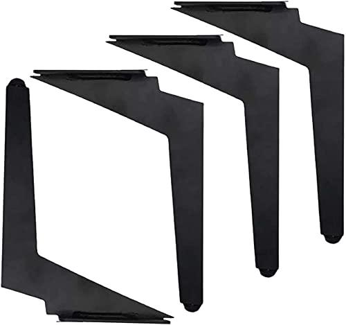 FTYYSWL 4X Metallmöbelbeine, Stahlmöbelfüße, diagonale Sofa-Beine, DIY-Hardware-Schrankbeine, Möbelstütze, Bettbeine Ersatzfüße