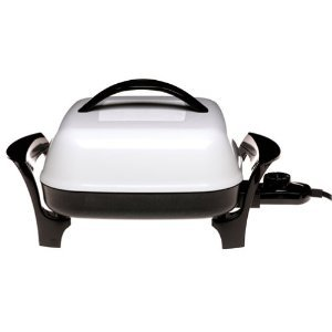 "Presto 11"" Electric Skillet Dishwasher Safe with Heat Control Removed Innovative Evernu Cover"