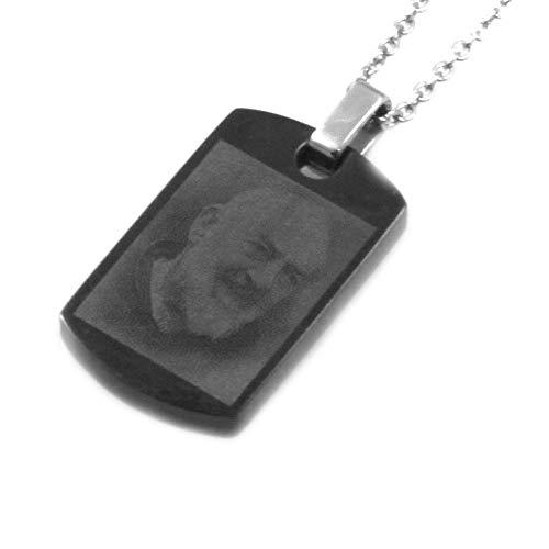 amorili Halskette von Padre pio in Stahl Stainless Steel unveränderlich anhänger Kette bis 50 cm H26-L13 - cll0714