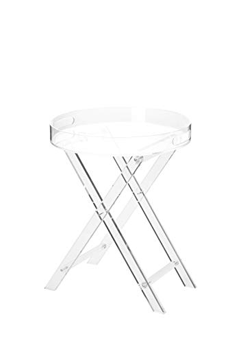 Artmaze Clear Acrylic Small Folding Table,Round Tray Drink Table,for Office, Nightstand for Living...