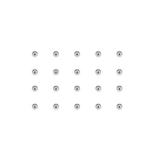 uxcell Precision Balls 2mm Solid Chrome Steel G25 for Ball Bearing Bike Bicycle Keychain Wheel 200pcs