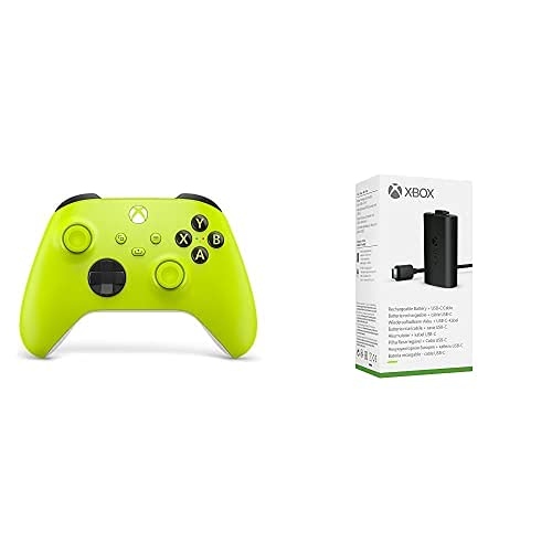 Xbox Wireless Controller Electric Volt + Xbox Play & Charge Kit M