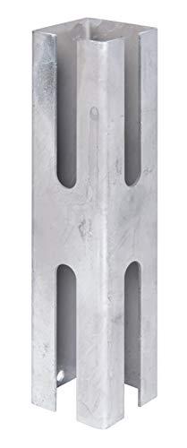 GAH-Alberts 672645 Zaunpfosten-Adapter | zur Verlängerung vorhandener Zaunpfosten | feuerverzinkt | Länge 250 mm | für Pfosten 60 x 60 mm