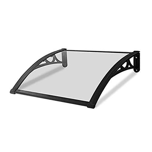 Nevy- Marquesina para Puertas Y Ventanas Tejadillo De Protección Toldo Policarbonato Tejadillo De Protección para Terrazas Canopy (Color : Clear, Size : 60cmx120cm)
