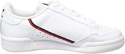 adidas Continental 80 J, Chaussures de Fitness Mixte Enfant, Cloud White/Scarlet/Collegiate Navy, 38 EU