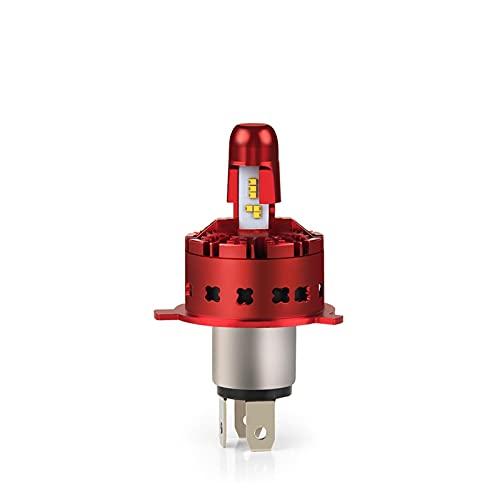 Zes Chips H4 LED bombillas de faros para automóviles Turbo Turbo LED H4 para la luz de la motocicleta 12V lámparas automotivológicas (Emitting Color : 1 Piece, Socket Type : H4)