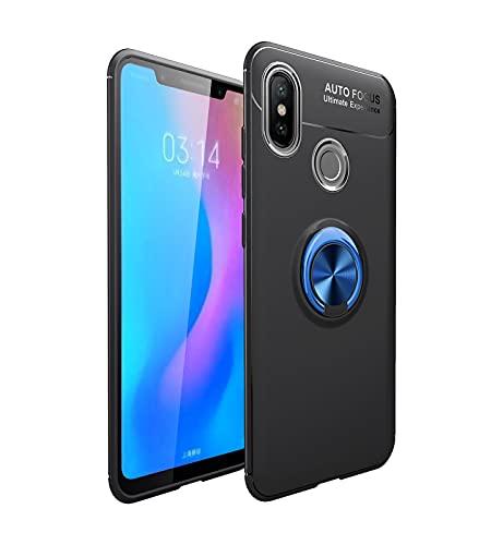 Bolso de un teléfono portátil Funda protectora para Xiaomi MI 6x / MI A2 TPU Soft TPU Funda a prueba de golpes 360 grados Rotación Metal Anillo Magnético Kickstand DISIPACIÓN DE CALOR DISIPACIÓN DE CA