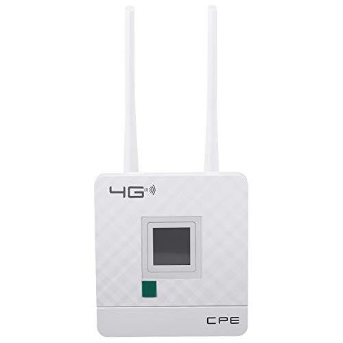 SODIAL Enrutador WiFi 3G 4G LTE 150Mbps Punto de Acceso PortáTil Enrutador InaláMbrico CPE Desbloqueado con Ranura para Tarjeta SIM Puerto WAN/LAN Enchufe de la UE