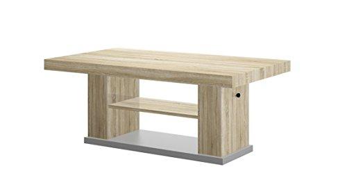 Design Couchtisch HN-777 Sonoma Eiche - Grau höhenverstellbar ausziehbar Tisch Esstisch