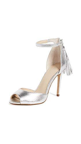 botkier Women's Anna Fringe Sandals, Argent, 10 M US