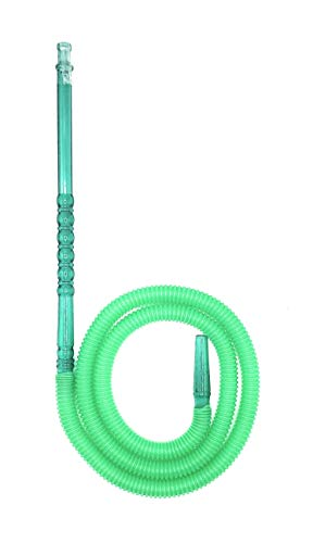 60 Inches Disposable Hookah Hose, Washable and Easy to Clean, Fits Any Glass or Plastic Hookah Set, Hard Plastic Handle with Excellent Air Flow - Pick Your Color. (Green)