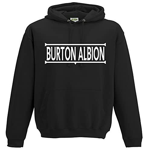Burton Albion Legends Gift Premium Mens Hoodie X-Large White/Black