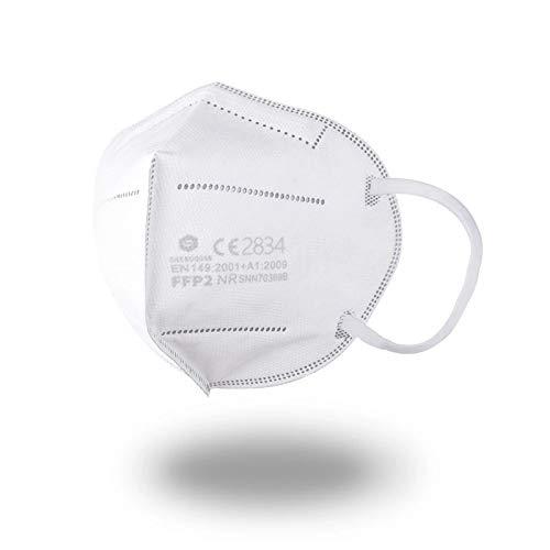 40 Stück - Sunfoam® FFP2 Maske, CE Zertifiziert CE2834, geprüft EN149:2001+A1:2009 FFP2 NR, Schaumdichtung im Nasenbügel, Versand aus Deutschland