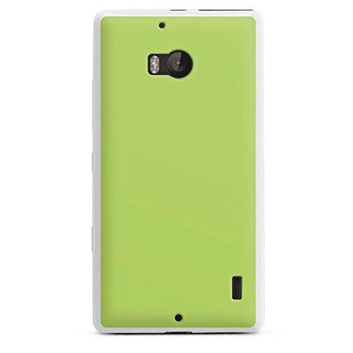 DeinDesign Silikon Hülle kompatibel mit Nokia Lumia 930 Case weiß Handyhülle grün einfarbig Thermomixmotive