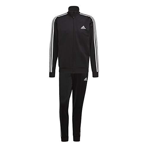Adidas GK9651 M 3S TR TT TS Tracksuit mens top:black/white bottom:black/white, M (6)