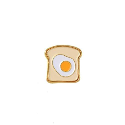 JIWEIER Perfekte Frühstück Emaille Pin Nette Karikatur-Toast-Brot-Scheiben-Milch-Ei-Broschen Denim Mantel Pin-Hemd-Revers-Stifte Geschenk for Freunde Broschen für Frauen (Color : 3)