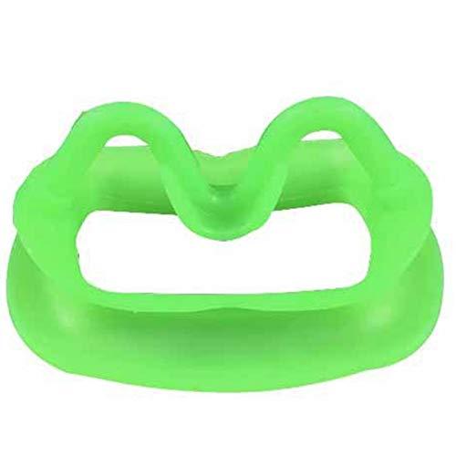 MLXG - Disparador dental de sílice suave para mejillas, dilatador dental, color verde