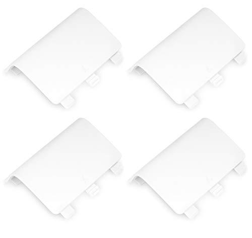 MoKo Xbox One Batería de la Puerta - 4 Paquete Reemplazo de la Cubierta Shell Cover para Xbox One/Xbox One S Controlador Inalámbrico, Blanco