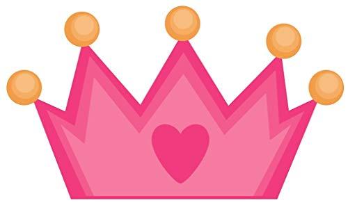 Samunshi® Pinke Krone Aufkleber Sticker Autoaufkleber Scheibenaufkleber in 8 Größen (8x4,6cm Mehrfarbig)