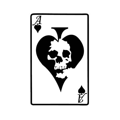 GSPOGTY 3 Piezas de Pegatinas de Coche, 15 CM * 9,7 CM Bone Poker Pegatinas Autoadhesivas de álbum de Recortes para Ordenador portátil, Motocicleta, Bicicleta