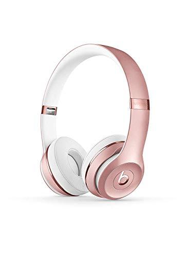 BeatsSolo3Wireless - Auriculares supraaurales - Chip Apple W1, Bluetooth de Clase1, 40horas de sonido ininterrumpido - Oro Rosa