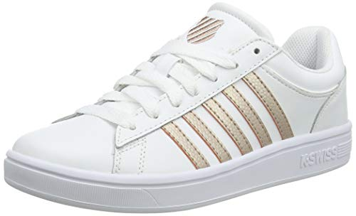 K-Swiss Damen Court Winston Sneaker, Weiß (White/Rose Gold 188), 42 EU