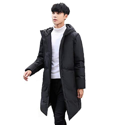 Donsjas heren winter jeugd medium lange jas verdikt donsjack witte eend naar beneden vulling dikker warm polyester 100%