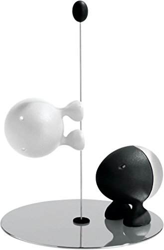 Alessi Lilliput ASG02 O Servizio per Sale e Pepe di Design, Nero/Bianco