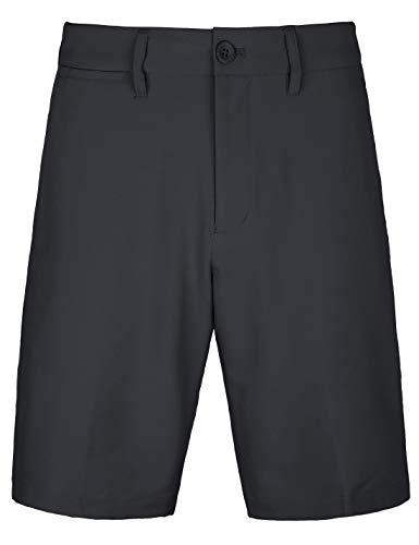 Men's Golf Shorts Khaki Stretch Tech Light Relaxed Fit Quick Dry Twill Short Size 36 Black