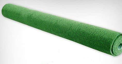 DRULINE Rasenteppich Kunstrasen Rasen Vliesrasen Teppich Fertigrasen 100 x 200 cm (EUR 6,55 / m)