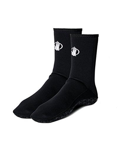 Body Glove Wetsuit 3mm Neoprene Full Flipper Slippers, 12, Black