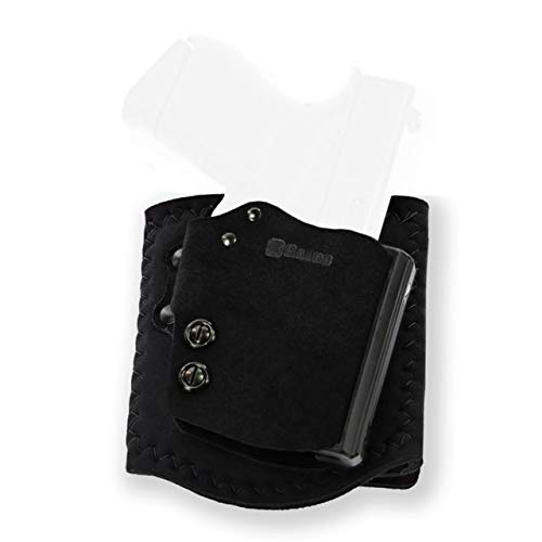 Galco Ankle Guard Leather Holster, Right, Ankle Holster, Plain, Black, AGD800RB