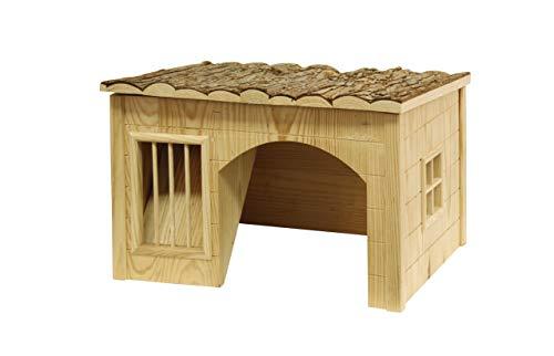 Kerbl Häuschen mit Heuraufe, 43 x 34,5 x 27 cm