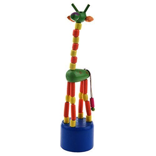 BMYUK Kid Developmental Toy Baby Dancing Rocking Standing Colorful Giraffe Wooden Toys