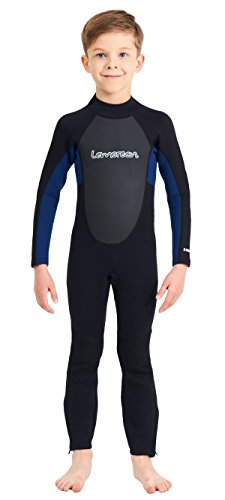 Lemorecn Wetsuits Youth 3/2 mm Full Diving Suit (4031blackblue12)