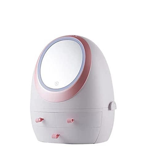 Caja de almacenamiento cosmética con el tipo llevado del cajón ligero del cajón de los productos del cuidado de la piel