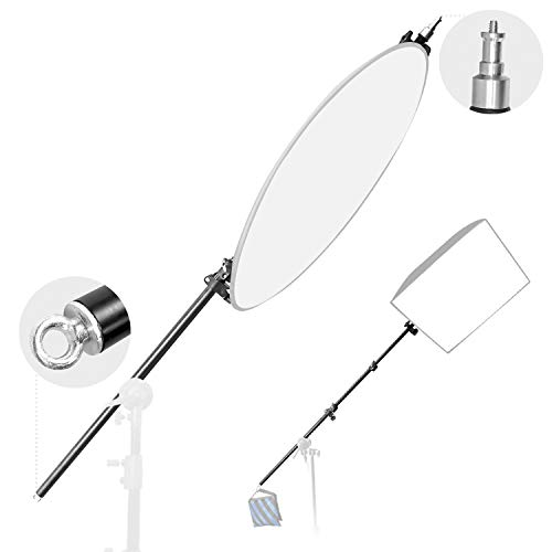 LimoStudio Photography Photo Studio 83' Extendable Boom Arm with Reflector Holder and...