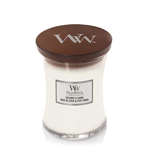 Woodwick Coconut & Tonka mittleres Glas