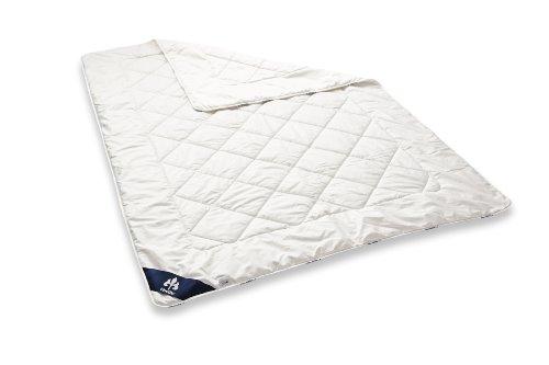 Badenia Bettcomfort Irisette Merino Steppbett, leichte Bettdecke aus Schurwolle für den Sommer, 135 x 200 cm, weiß