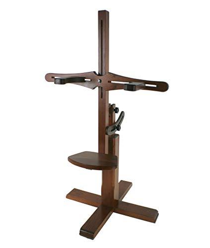CAL FUSTER - Soporte regulable de madera encaje de bolillos con prensores. Medidas: 94x46x46 cm.